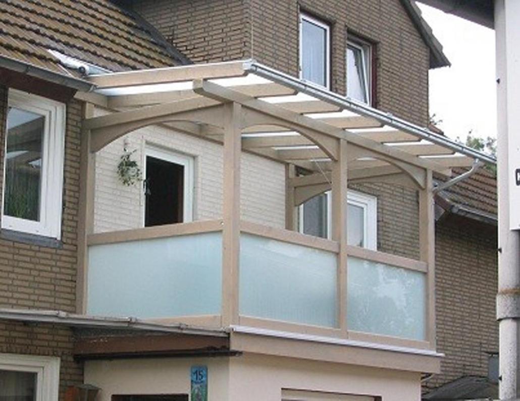 Balkon Vollholz Viereck
